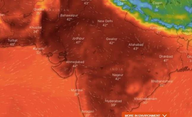 India weather_ Temperature passes 50C Celsius in northern India