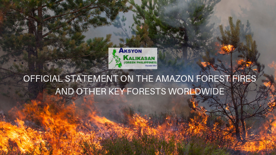 OFFICIAL STATEMENT ON THE AMAZON FOREST FIRES AND OTHER KEY FORESTS WORLDWIDE