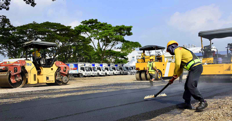San Miguel Corporation uses recycled plastic for roads