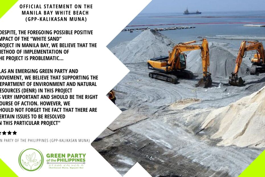 Green Party of the Philippines Manila Bay White Beach Project Statement