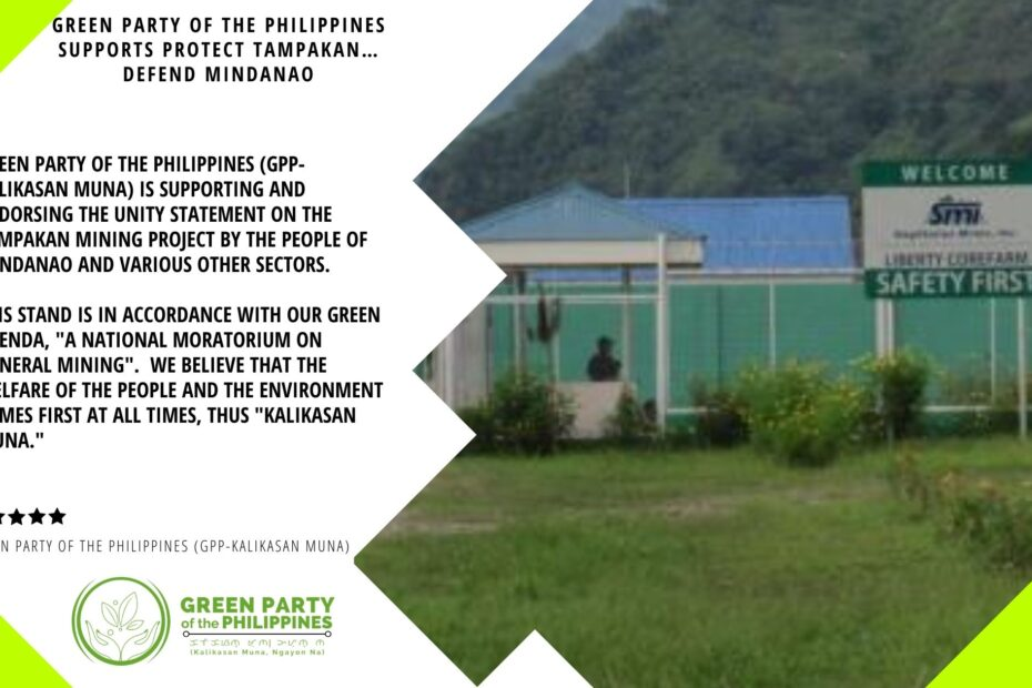 Green Party of the Philippines supports Protect Tampakan Defend Mindanao