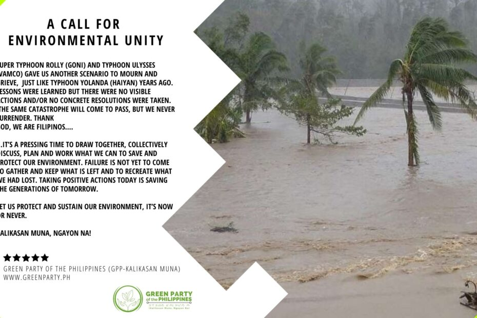 A Call for Environmental Unity