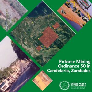 Enforce Mining Ordinance 50 in Candelaria, Zambales