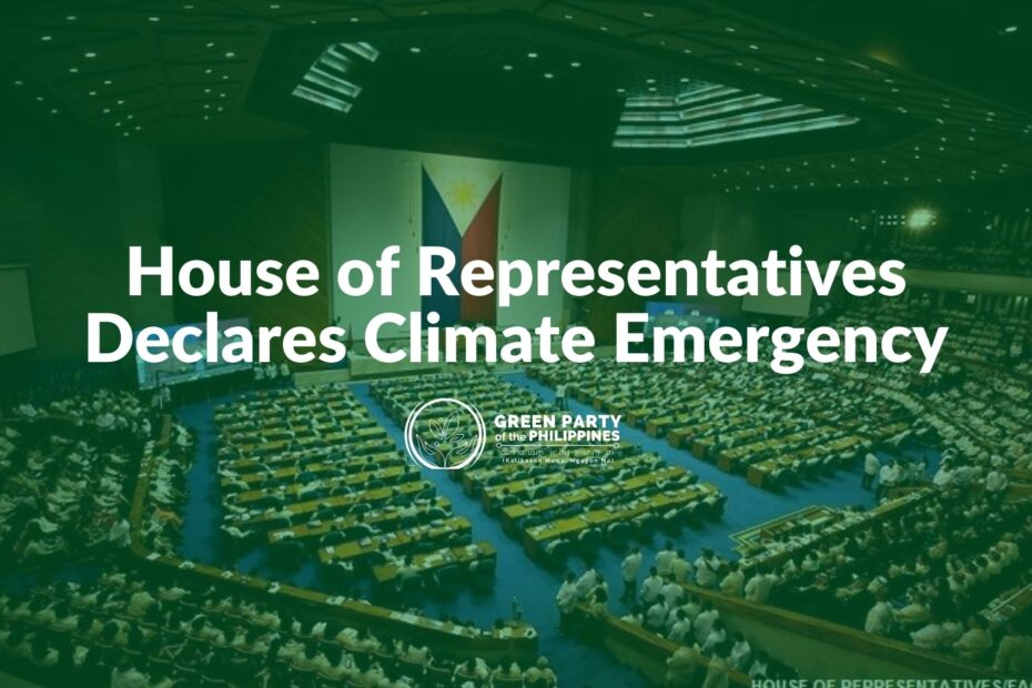 House of Representatives Declares Climate Emergency