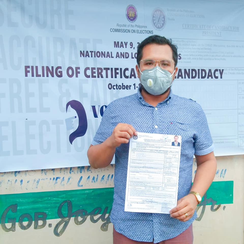 Deuz Luzande Files Candidacy as Green Councilor of Liliw, Laguna